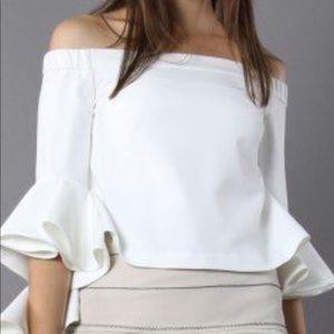 Chicwish Ethereal Frilling flared sleeve blouse